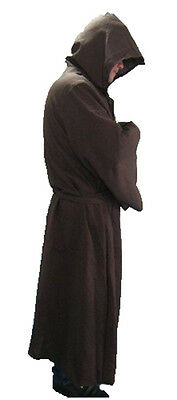 Brown Long Hooded Robe-Warrior-Monk-Halloween