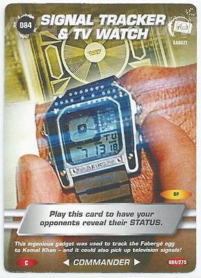 James Bond 007 - Spy Cards - Common Card 084 - Signal Tracker & Tv Watch (Apke)