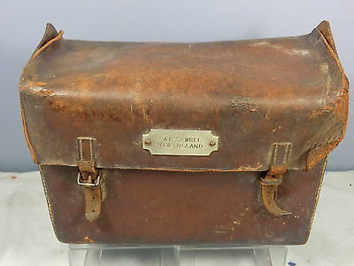 "Vintage Br Footplate / Guards  Leather  Bag  ""a.e. Sewell"" New England 34E Shed"