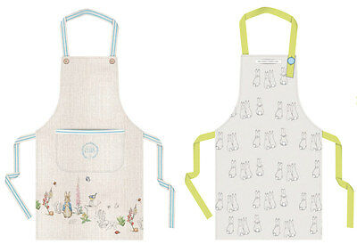 Peter Rabbit Adult Kitchen Cooking Chefs Apron Vintage White Blue Ladies Gift