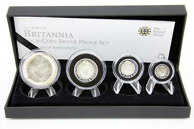 Royal Mint 2010 Silver Proof Britannia 4 coin set Tenth Quarter Half Full Ounce
