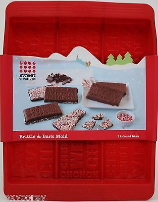 Bradshaw Good Cook Sweet Creations Brittle & Bark Silicone Mold 6 Count Bars NWT