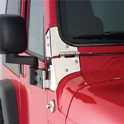 Rampage 7403 Stainless Steel Pair of Windshield Hinges for Jeep CJ/Wrangler