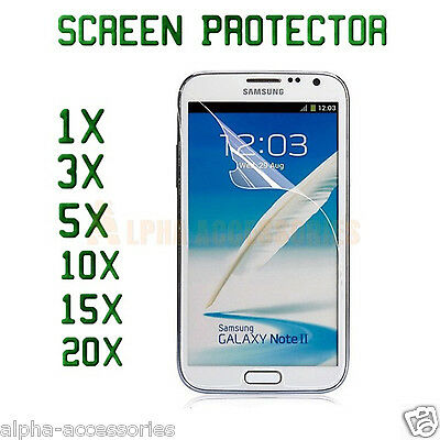 Crystal Clear Film LCD Screen Protector Lot For Samsung Galaxy Note 2 II N7100