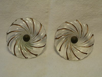 Antique Pair Of Glass Curtain Tie Backs W/ Gold Leaf Accents ...