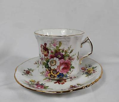 Hammersley Howard Sprays Embossed Scalloped Minuet #2991 Floral Cup & Saucer