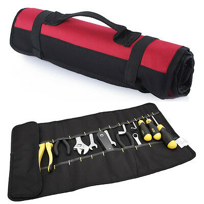 Canvas Tool Roll Spanner Wrench Tool Bag Storage Case Fold Up Holder 22 Pockets