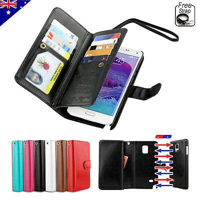 Flip Magnetic Leather Wallet Card Case Cover for Samsung Galaxy S5 S4