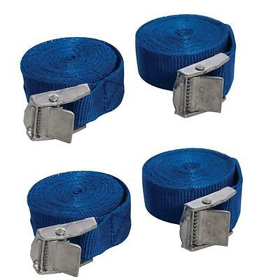 Pack Of 4 Cam Buckle Tie Down Straps Roof Racks Trailers 25 X 2500 Mm Long