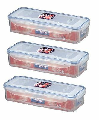 3 X Lock And & Lock Plastic Bacon Box With Freshness Tray 1L Hpl842