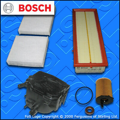 SERVICE KIT for PEUGEOT 207 1.6 HDI CC SW MEHR OIL AIR FUEL CABIN FILTER (06-09)
