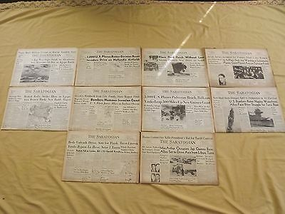 VINTAGE LOT 6 Wwii 10 Old 1940S The Saratogian Newspapers Saratoga Springs  Ny