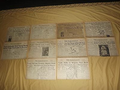 VINTAGE LOT 6 Wwii 10 Old 1940S The Saratogian Newspapers Saratoga