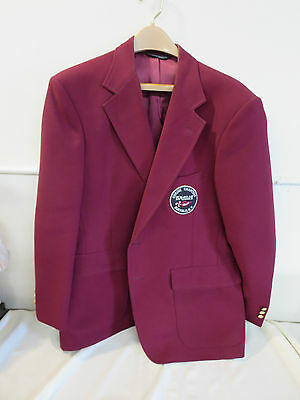 Shriners Shrine Chanters Ismailia Buffalo Burgandy Blazer w/ Patch 43S