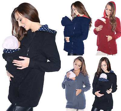 Maternity Polar warm fleece Hoodie Jumper Pullover Babywearing BABY CARRIERS II