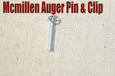 McMillen Auger Connector Pin & Clip, For Skid Steer Augers Fits X Series Augers