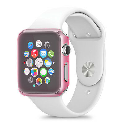 kwmobile Crystal Case für Apple Watch 38mm (Series 1) Pink Hardcase Smartwatch