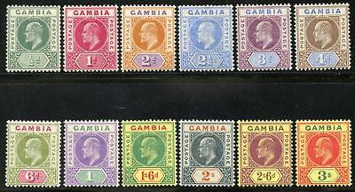 The Gambia Sc# 28-39 Sg# 45-56 Mint Hinged As Shown Myn