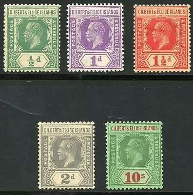 Gilbert & Ellice Islands Sc# 27-31 Sg# 27-35 Mint Light Hinged As Shown Om