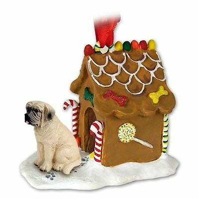 MASTIFF Dog Gingerbread Ginger Bread House Christmas ORNAMENT