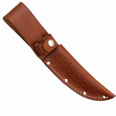 """Brown Leather Sheath For Up To 4"""" Straight Fixed Blade Knife, Sh1133"""