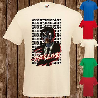 Mens Womans THEY LIVE Zombie 80's Cult Movie T Shirt Tee Freepost UK