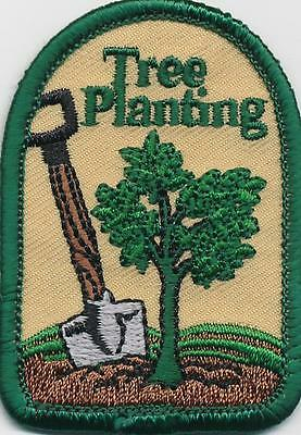 Girl Boy Cub TREE PLANTING arbor day Fun Patches Crests Badges SCOUTS GUIDE