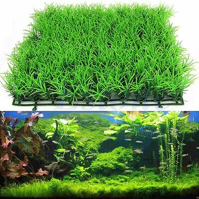 Artificial Fake Water Aquatic Green Grass Plant Lawn Decor Aquarium Fish Tank
