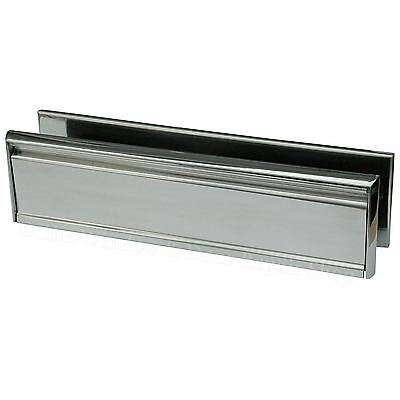 """12/"""" Inch Letter Box Plate Polished Silver 40//80 uPVC Double Glazed Doors Welseal"""