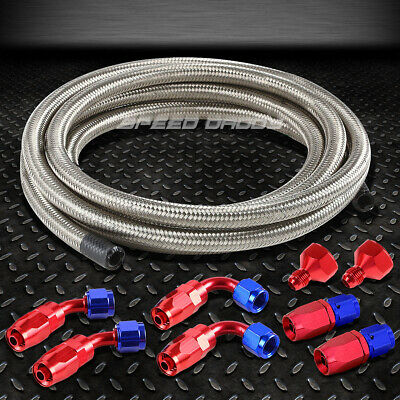 Fuel/gas Tank/cell An10-An6 10 An Fittings+Braided Ss Feed/return Line/hose Kit