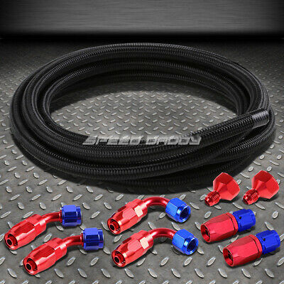 Fuel/gas Tank/cell An10-An6 10 An Fittings+Black Braid Feed/return Line/hose Kit