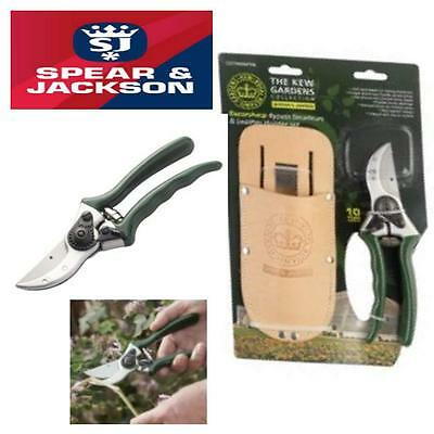 Spear & Jackson Kew Gardens Bypass Secateurs And Leather Holster Cuttingset4K