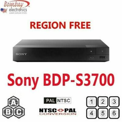 Sony Bdp-S3700 All Region Free Blu-Ray Dvd Player - A, B, C & 0-9 Pal/ntsc
