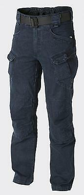 HELIKON TEX UTP URBAN TACTICAL DENIM OUTDOOR PANTS Trousers Hose Jeans Blau