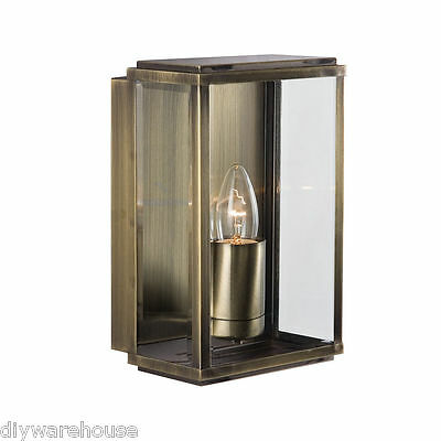 Searchlight 8204Ab Superb Quality Antique Brass Finish Coach Outdoor Wall Light.
