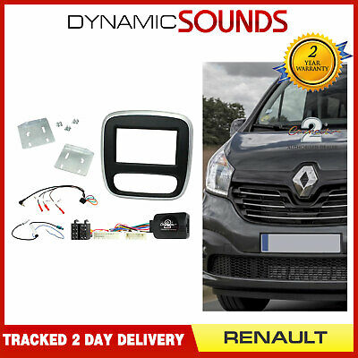 CTKRT07 Silver Fascia & Steering Wheel Antenna Kit For Renault Trafic (2015>)
