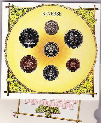 1987 Brilliant Uncirculated Coin Collection Of 7 Coins