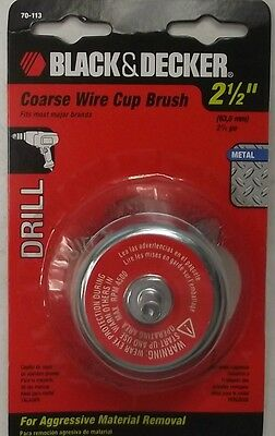 "Black Decker 70-113 2-1/2"" Coarse Wire Cup Brush"