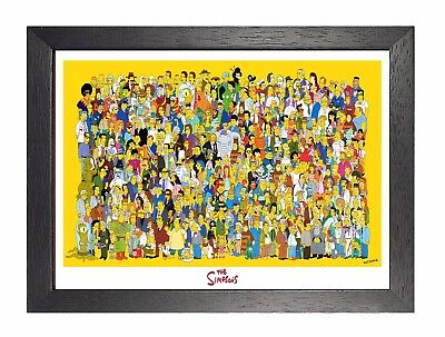 The Simpson 7 TV Serial Cartoon Poster American Animated Sitcom Print Picture