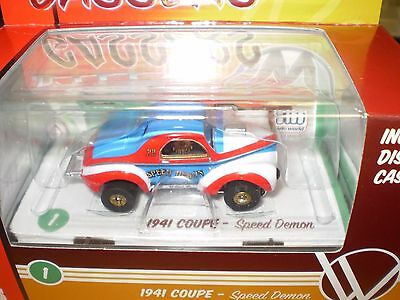 Auto World R14 1941 Coupe #1 Speed Demon (Blue&red&white ) Electric Slot Racer