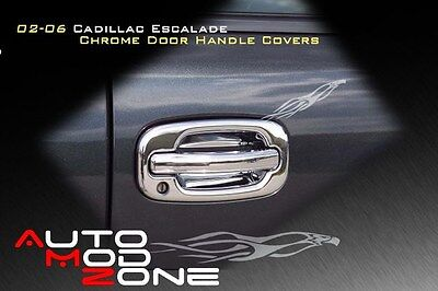Mirror Cover Combo w//PSG Keyhole 02-06 Cadillac Escalade Chrome 4 Door Handle