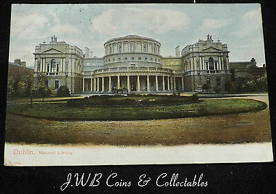 Old Postcard of Dublin National Library