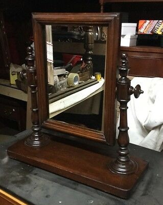 GREAT Walnut  DRESSER TOP CHEVAL STYLE MIRROR, VALET