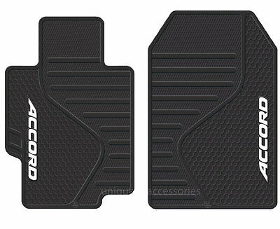 Universal Black All Weather Heavy Duty Rubber Front Floor Mats for Honda Accord