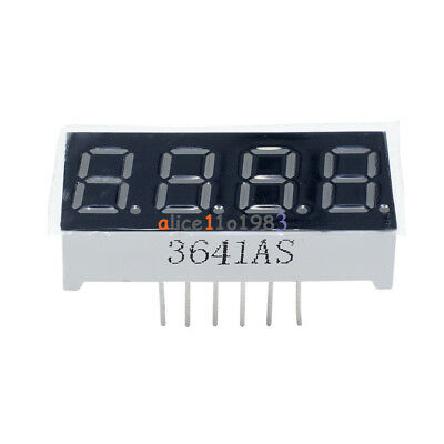 "10Pcs 0.36inch 7 Segment 4 Digit Common Cathode 0.36"" RED LED digital display"