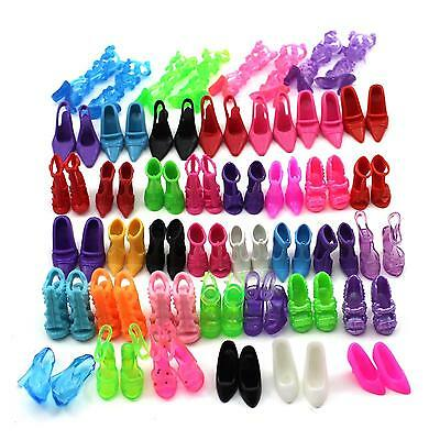 40 Pair Different Type High Heel Sandals Shoes Boots For Doll Princess Girl Gift