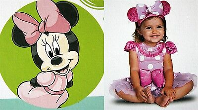 *New* Disney Deluxe Infant Costume-Minnie Mouse-Sizes 6-12 months & 12-18 months