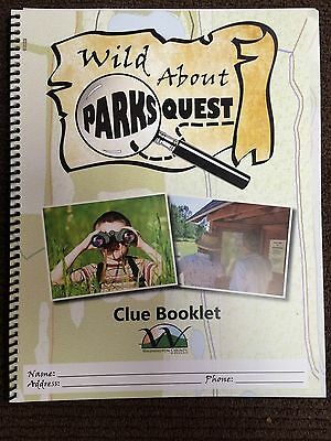 Wild About Parks Quest, Clue Booklet, Washington County, Wisconsin, 11 x 8-3/4