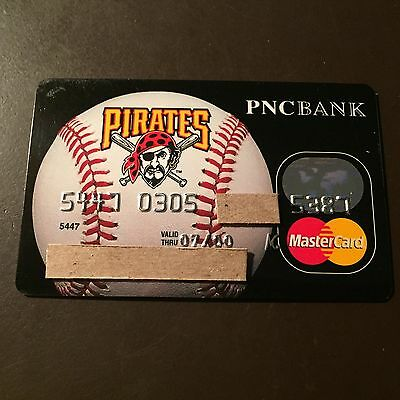 Pittsburgh Pirates 2000 Vintage Collectors MasterCard Credit Card - PNC Bank