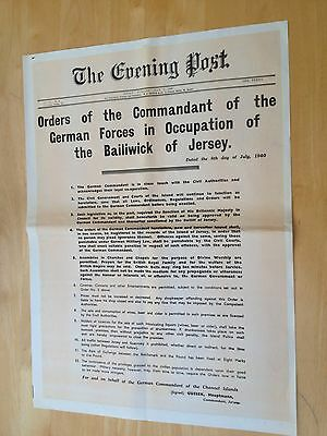 WW11 Poster - ORDERS OF THE COMMANDANT OF THE GERMAN FORCES IN JERSEY